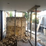 Week 3 - (April 2015) the remains of the back wall